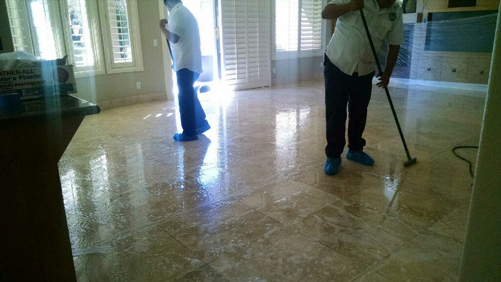 Kitchen Floor Polishing