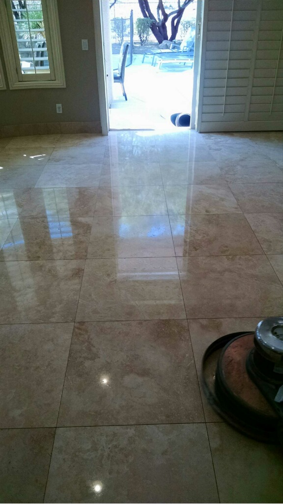 Bathroom Floor Polishing