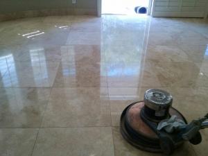 Bathroom Floor Refinishing